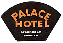 Vintage Luggage Label: Park Hotel Stockholm Sweden