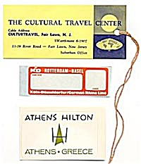 Vintage Luggage Labels: Set of 4 (Image1)