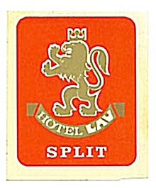 Vintage Luggage Label: Hotel Lav Split (Image1)