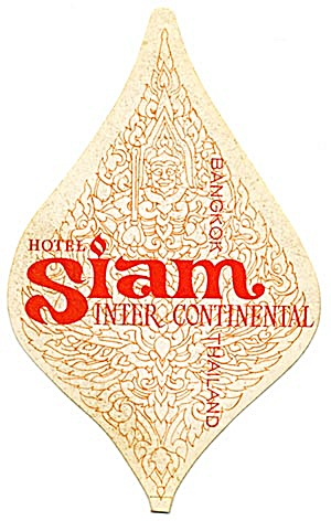 Vintage Luggage Label: Hotel Siam