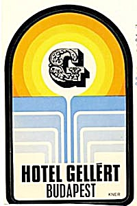 Vintage Luggage Label: Hotel Gellert Budapest Peel Off
