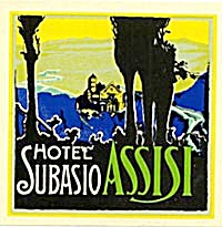 Vintage Luggage Label: Hotel Subasio Assisi (Image1)