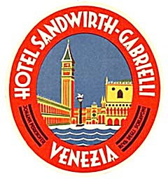 Vintage Luggage Labels: Hotel Sandwirth Gabrielli (Image1)