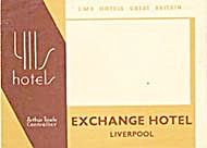 Vintage Luggage Label: Yils Hotel Liverpool (Image1)