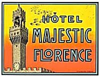 Vintage Luggage Label: Hotel Majestic Florence (Image1)