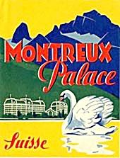 Vintage Luggage Label: Montreux Palace Suisse (Image1)