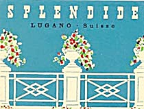 Vintage Luggage Label: Splendide Lugano Suiss (Image1)