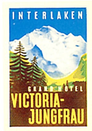 Vintage Luggage Label: Grand Hotel Victoria-Jungfrau (Image1)