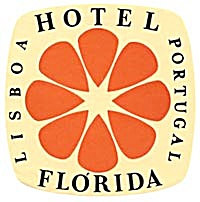 Vintage Luggage Label: Hotel Florida, Lisboa, Portugal (Image1)
