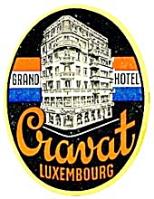 Vintage Luggage Label: Grand Hotel Luxembourg (Image1)