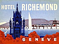 Vintage Luggage Label: Hotel Richemond (Image1)