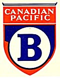 Vintage Luggage Labels: Canadian Pacific B (Image1)