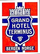 Vintage Luggage Label:Grand Hotel Terminus (Image1)
