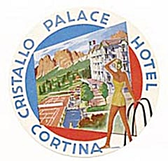 Vintage Luggage Label: Cristallo Palace Hotel Cortina (Image1)