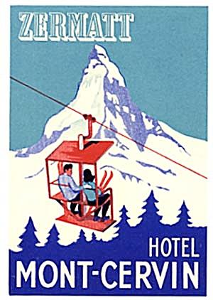 Vintage Luggage Label: Seiler's Hotel Zermatt (Image1)