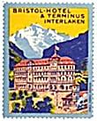 Vintage Luggage Label: Bristol Hotel & Terminus (Image1)