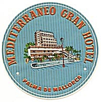 Vintage Luggage Label: Mediterraneo Gran Hotel (Image1)