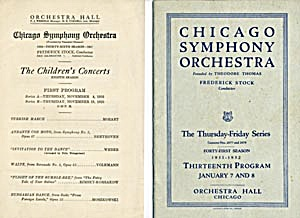 Chicago Symphony Orchestra Programs (Image1)