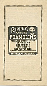 Rippey's Powdered Foamoline For Ice Cream
