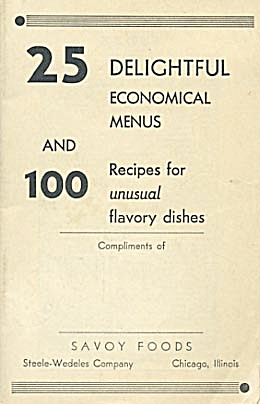 25 Delightful  Economical Menus Savoy Foods recipes (Image1)