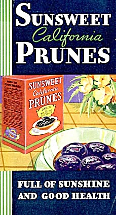 Vintage Sunsweet California Prunes Recipe