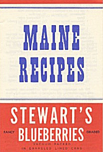 Maine Recipes Stewarts Blueberries