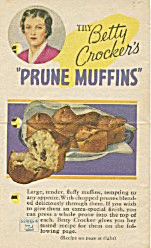 Betty Crocker Prune Fuffins Fold Out