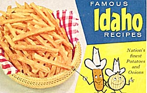 Vintage Famous Idaho Recipes Potatoes And Onions