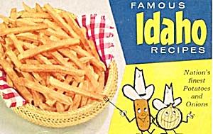 Vintage Famous Idaho Recipes Potatoes and Onions (Image1)
