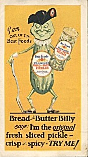 Vintage Bread And Butter Billy Pickle Ad
