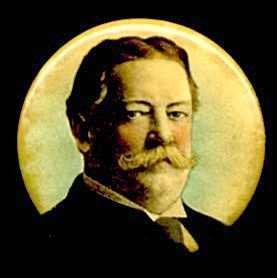 Taft Looking To The Side President Color Pinback