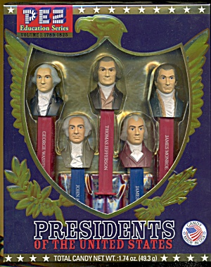 Pez Candy Presidents Of The United States Dispensers