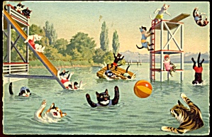 Vintage Alfred Mainzer Cats