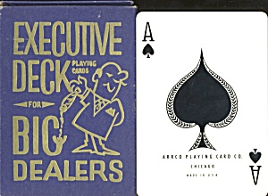 Vintage Executive Deck Large Size Playing Cards For Big