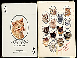 Vintage Cat Breed Playing Cards