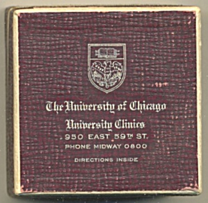 Vintage University Of Chicago Prescription Box