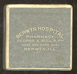 Vintage Berwyn Hospital Prescription Box
