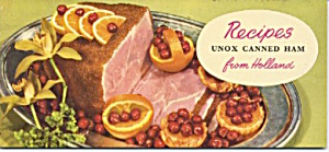 Unox Canned Ham From Holland