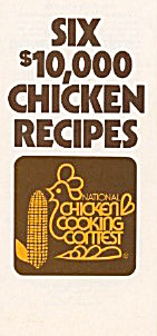 6 10,00 Chicken Recipes Cooking Contest 1977 Brochure