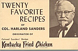 Twenty Favorite Recipes Of Col. Harland Sanders