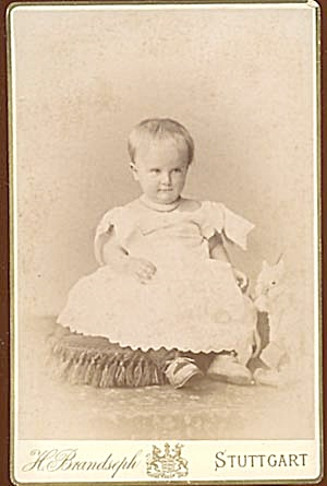 Vintage Photograph of Serious Baby (Image1)