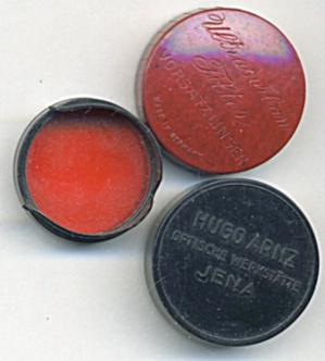Vintage Hugo Arnz Jena Red Filter In Bakelite Case