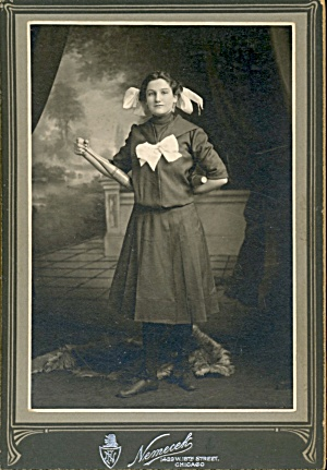 Antique Photo Of Girl Juggler W Indian Clubs
