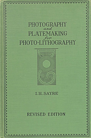 Photography And Platemaking For Photo-lithography