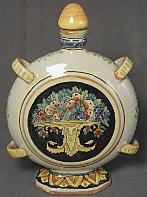 Italian Majolica Veruta Liquor Bottle (Image1)