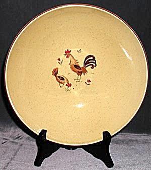 Bowl With 2 Roosters