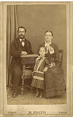 Antique Photo Family Portrait M. Adler (Image1)