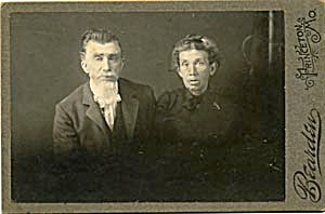 Antique Photo Older Couple Portrait (Image1)