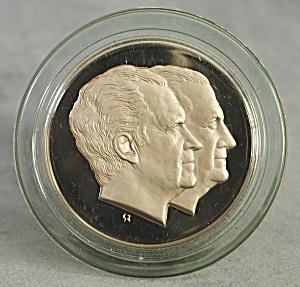 Nixon & Agnew Solid Bronze Medal 1973 (Image1)