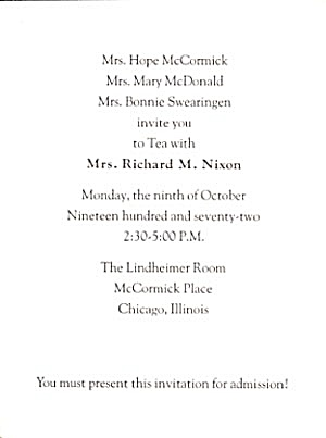 Invitation To Tea with Mrs. Nixon (Image1)